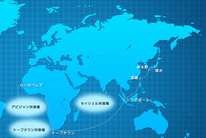 主要運航ルートマップ